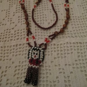 JUNIPER BERRY NATIVE AMERICAN Doll Beaded Necklace